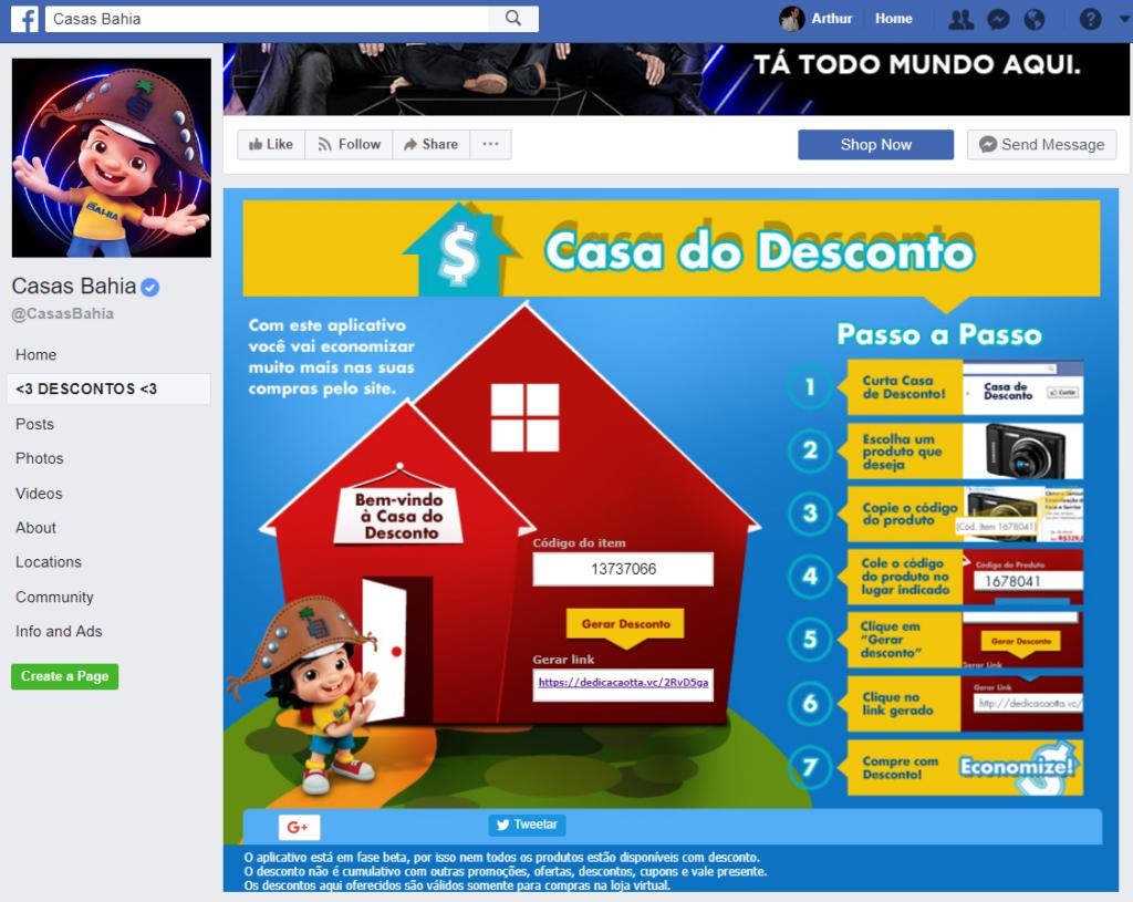 Landing Page Casas Bahia